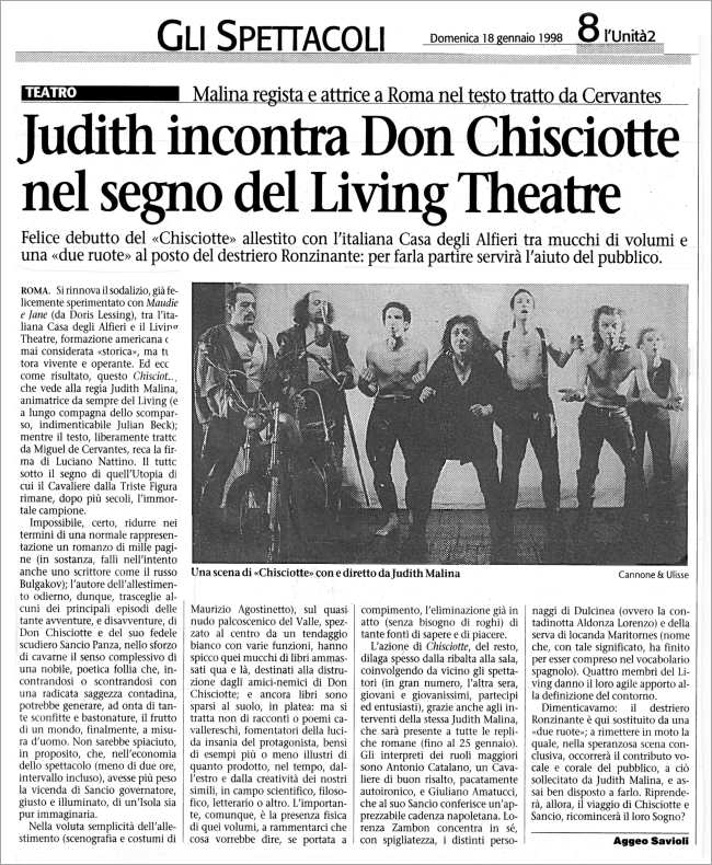 1997-11-chisciotte review l-unita