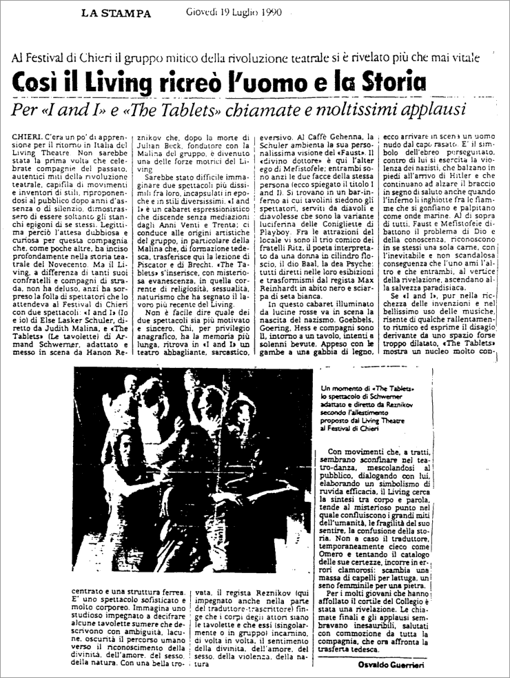 1990 la stampa review italian