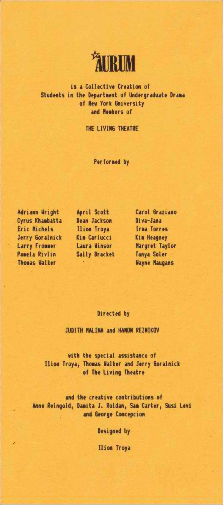 1987 aurum program-b