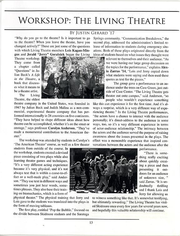 Skidmore College Article